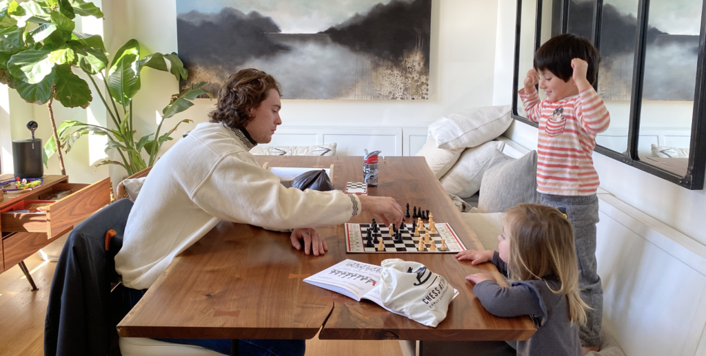 chess teacher and student
