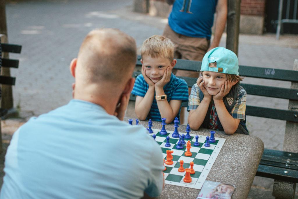 kids loving chess