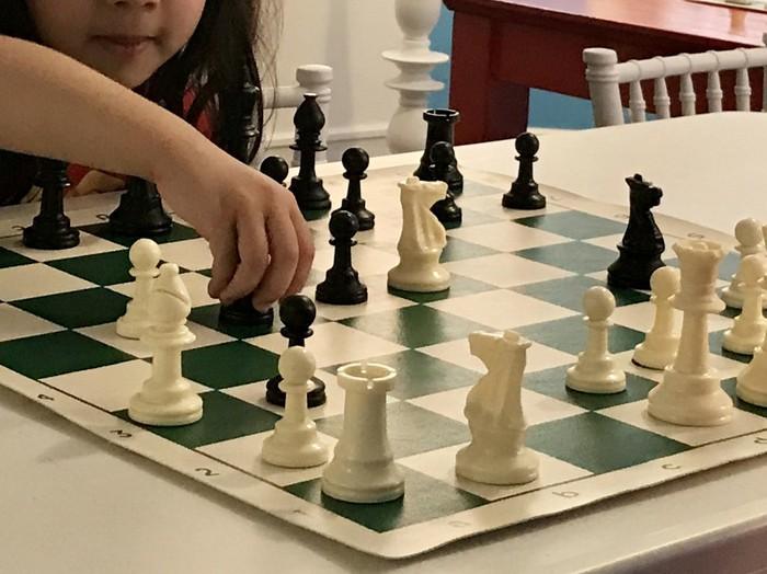 kid playinh chess